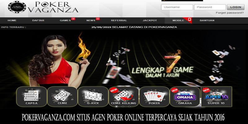 Pokervaganza.com Situs Agen Poker Online Terpercaya Sejak Tahun 2016