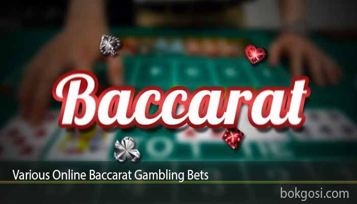 Various Online Baccarat Gambling Bets